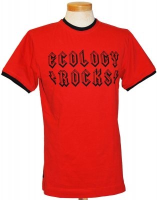 Röd T-shirt Ecology Rocks